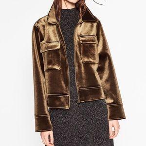 Golden Chocolate Velvet Jacket